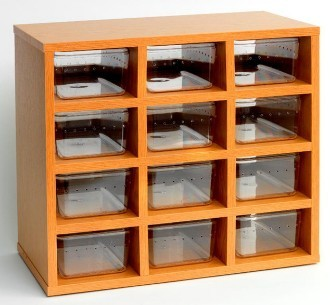 Monkfield Hatchling Snake Rack with Accessories