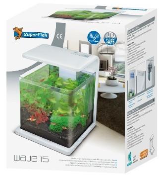 Superfish Wave 15 White 15ltr Nano Fish Tank