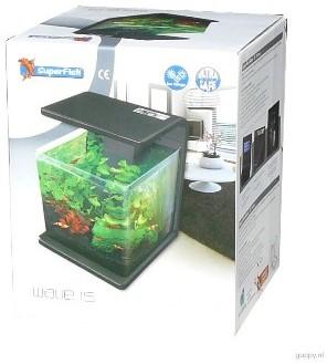 Superfish Wave 15 Black 15ltr Nano Fish Tank