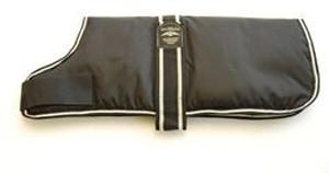 Animate Waterproof Padded Dog Coat Black 35cm