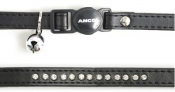 Ancol Deluxe Jewelled Cat Collar Black