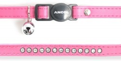 Ancol Deluxe Jewelled Cat Collar Cerise Pink