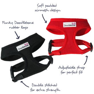 Doodlebone Dog Harness Red Small
