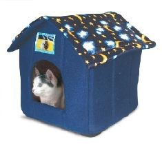 Just 4 Pets House Bed Moon & Stars Cat Bed