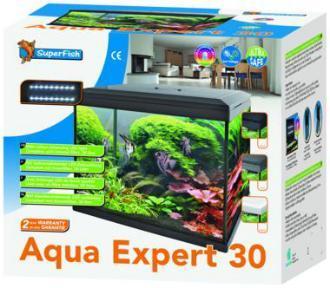 Superfish aqua expert 30 black 30 litre fish tank from for Aquarium 30 litres