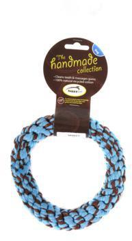 Happy Pet Rope  Ring Small Blue