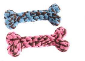 Happy Pet Rope Bone Medium Blue