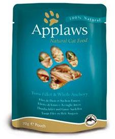 Applaws Cat Pouch Tuna Fillet & Whole Anchovy 70g x 12