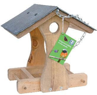 Cj New York Slate Roof Hanging Bird Table