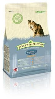 James Wellbeloved  Cat Food Turkey Hairball 300g