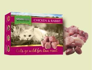 Natures Menu Raw Cat Food Chicken and Rabbit 400g