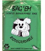 Bag'Em Scented Biodegradable Waste Poop Bags 50s