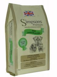 Simpsons Adult Lamb & Brown Rice Dog Food 2kg