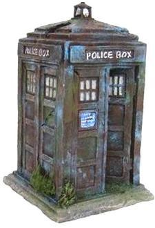 Police Box Fish Tank Ornament 17.5cm