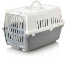 Savic Zephos 1 Plastic Pet Carrier White/Grey