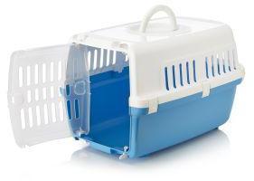 Savic Zephos 1 Plastic Pet Carrier White/Pacific Blue