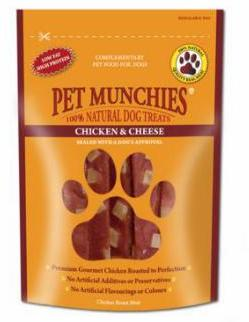 Pet Munchies Chicken & Cheese Dog Treats 8 for the price of 7