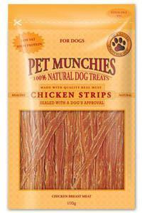 Pet Munchies Chicken Strips Dog Treats 8 packs for price of 7