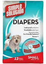 Simple Solution Disposable Diaper Small (12's)