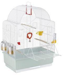 Ferplast Ibiza White Open Bird Cage 49.5x30x69xcm