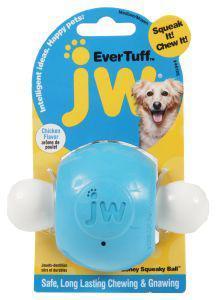 JW Ever Tuff Nylon Boney Squeaky Ball Chicken Flavour Medium Dog Toy