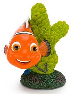 Nemo on coral Fish Tank Mini Ornament 2""