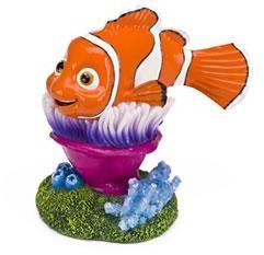 "Nemo On Anemone Fish Tank Ornament 4"""