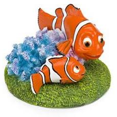 Nemo and Marlin Fish Tank Ornament 4""
