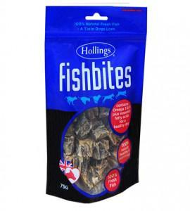 Hollings Fishbites 75g Dog Treats x 8