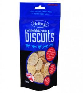 Hollings White Fish & Potato Biscuits 75g x 15