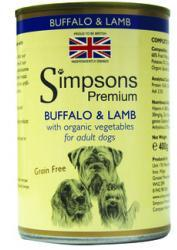 Simpsons Premium Wet Dog Food Buffalo & Lamb Casserole