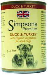 Simpsons Premium Wet Dog Food Duck & Turkey Casserole