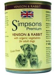 Simpsons Premium Wet Dog Food Venison & Rabbit Casserole