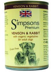 Simpsons Premium Wet Dog Food Venison & Rabbit Casserole