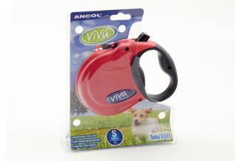 Ancol Viva 5m Retractable Dog Lead Small Red