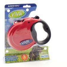 Ancol Viva 5m Retractable Dog Lead Large Red
