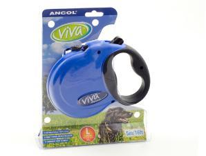 Ancol Viva 5m Retractable Dog Lead Large Blue