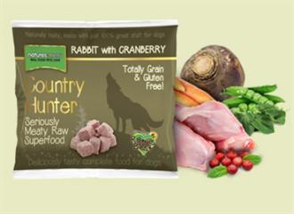 Country Hunter Raw Rabbit with Cranberries Dog Food 1kg