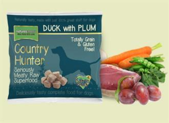 Country Hunter Raw Duck with Plum Dog Food 1kg