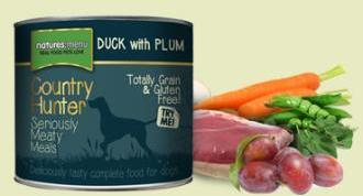 Natures Menu Country Hunter Duck and Plum 600g Cans for Dogs