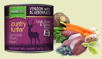 Natures Menu Country Hunter Venison and Blueberry 600g Cans for Dogs