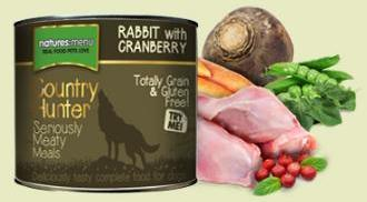 Natures Menu Country Hunter Rabbit with Cranberry 600g Cans for Dogs
