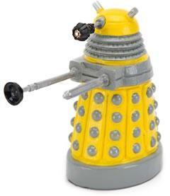 Doctor Who Dalek Fish tank Ornament Yellow 4.5 inch