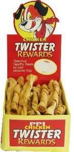 Twister Rewards Chicken Dog Treats 8 inch Box of 30