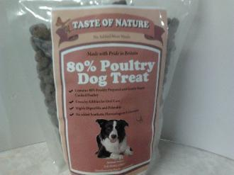 Taste of Nature 80% Poultry Dog Treats 500g