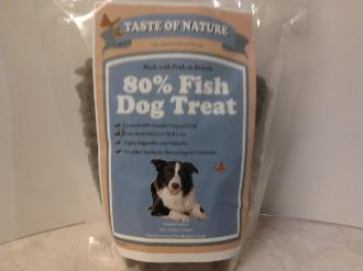 Taste of Nature 80% Fish and Potato Grain Free Dog Treats 500g