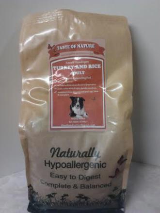 Taste of Nature Turkey and Rice Dog Food 2kg