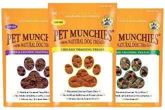 Pet Munchies Dog Training Treats Liver and Chicken