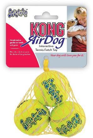 KONG Air Squeaker Tennis Balls 3 pack Extra Small