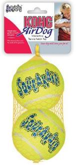 KONG Air Squeaker Tennis Ball 2 Pack Large